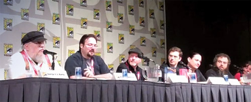 George R.R. Martin, Brandon Sanderson, Kevin J. Anderson, Christopher Paolini, Peter Orullian, Patrick Rothfuss y K.J. Taylor